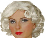 Ladies Fancy Party Dress Movie Star Fake & Artificial Hair Vintage Hollywood Wig