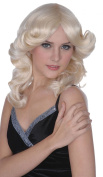 Ladies Fancy Dress 1980s Party Madonna Style Short Fake & Artificial Wig Blonde