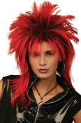 Ladies Fancy Dress 1980s Party Tina Two Tone Glam Rock Fake Artificial Wig