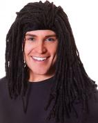 Ladies Fancy Dress Celebrities Party Rasta Style Long Ruud Gullit Artificial Wig