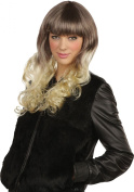 Ladies Fancy Dress Music Party Pop Girl Curly Straight Fake Artificial Wig