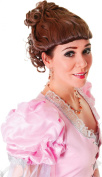 Ladies Fancy Dress Party Victorian Lady Short Curly Fake & Artificial Wig Brown