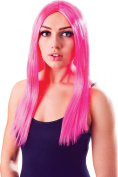 Ladies Fancy Dress Halloween Party 46cm Straight Long Fake & Artificial Wig