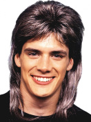 Mens Fancy Dress 80s Party Mullet Deluxe Straight Short Cut Fake Artificial Wig
