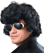 Mens Fancy Dress Disco Party Elvis High Quiff Short Curly Fake & Artificial Wig