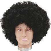 Mens Fancy Dress Disco Party Jumbo Pop Fake & Artificial Black Afro Wig