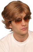 Mens Fancy Dress Party George Michael 1980s Short Fake & Artificial Wig