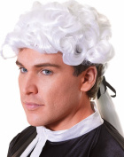 Unisex Fancy Dress Halloween Party Court Lawyer Short Curly Fake Artificial Wig