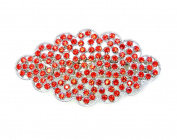 Faship Hair Barrette Clip Gorgeous Red Crystal