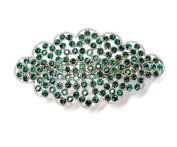 Faship Gorgeous Emerald Colour Green Floral Hair Barrette Clip