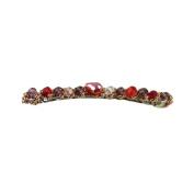 Medius fashion Fashion Faux Crystal Rhinestone Hair Pin Clip Barrettes Jewellery Hair Accessories Red