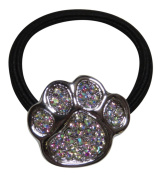 Rhinestone Paw Print Ponytail Holder Hair Accessory Sports Mascot