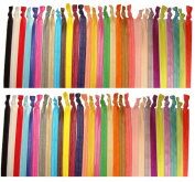 10 Elastic HEADBANDS (Lots of Available Colours) U PICK No crease Knotted Ouchless headband or hair ties by Kenz Laurenz