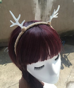 White Small Antlers Hair Band Headband