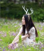 White Elk Antlers Hair Band Headband