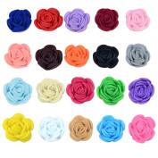 SEEKO 20PCS Baby Girls Felt Rose Flower Hair Clips