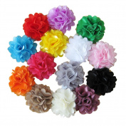 SEEKO Satin Mesh Hair Flowers Fabric Flowers Gauze DIY Children's Hair Bows