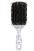 Dianyi 100% Boar Bristle Paddle Brush, Durable And Lasting Luxury Patent Leather