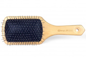 Dianyi Wooden Massage Hair Brush, Metal Bristles With Cushion Paddle Brushes