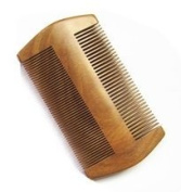 Myhsmooth GS-SM-N2F Handmade Natural Green Sandalwood No Static Comb-pocket Comb (Beard) with Aromatic Scent for Long and Short Beards-perfect Moustache Comb