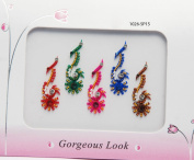 X-large Floral Bindis - Body Tattoo - Beach Tattoo