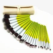 Style ABOEL - 23Pcs Bamboo Makeup Brushes-Makeup Brush Set-Make up Brushes-Foundation Brush-Contour Brush-Blending Brush-Powder Brush-Blush Brush-Professional Makeup Brush Set+Protective Beige Bag
