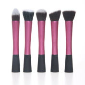 ANKKO Professional Cosmetic Brush Face Make Up Set Blusher 5pc in pack