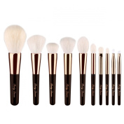 Party Queen Luxury 10pcs Wool Makeup Brush Set With Case - Top Craftwork Level Up Your Brushes Collection