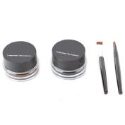 XX Shop Waterproof Eyeliner Shadow Gel Makeup Cosmetic + 2PCS BrushSset