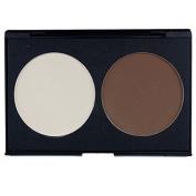 XX Shop 2 Colours Professional Pressed Powder Foundation Palette Contour Palette