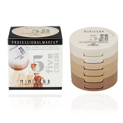 Professional Make up 5 Colours Kit Concealing Shading Pressed Powder Palette Cosmetics Perfect Foundation Base