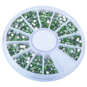 Theo & Cleo 1200-piece set Nail 1.5mm 3D Rhinestones Decoration, Light Green