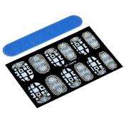 Theo & Cleo Nail Art Design Decals Decoration Tip Lace Stickers with Nail File, Totem