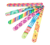 10 PCS Colourful Printing Style Professional Double Sided Nail Files Emery Board Grit Gel Cosmetic Manicure Pedicure