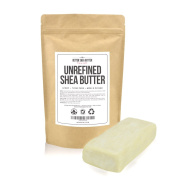 Raw Shea Butter Mini Bar - 240ml of Pure, African, Unrefined Shea Butter - For Dry or Acne-Prone Skin, Eczema, Stretch-Marks, Delicate Baby Skin, etc. - Now Available in Convenient 240ml Size