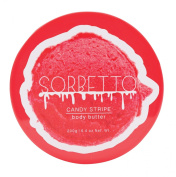 Upper Canada Soap Sorbetto Body Butter, Candy Stripe, 8.8 Fluid Ounce