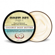 Coconut Joe's Trading Co. Coconut Body Butter, 100% Pure & Natural, 180ml