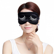 Ayygiftideas Mulberry Silk Eye Mask Long Eyelashes Eyeshade Sleeping Patch Brocade