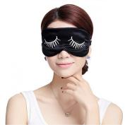 Ayygiftideas Mulberry Silk Eye Mask Long Eyelashes Eyeshade Sleeping Patch Brocade
