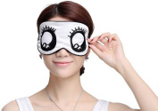 Ayygiftideas Mulberry Silk Big Eyes Eye Mask Breathable Eyeshade Cute Sleeping Patch