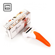 Koi Beauty Stainless Steel Ice Cooling Derma Skin Roller for Face and Body Massage Colour Orange