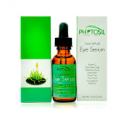 BEST Organic Eye Serum - Reduces Wrinkles, Dark Circles, Puffiness, Under-Eye Bags- Contains Vitamin C, Hyaluronic Acid, Caffeine, Plant Stem Cells, Astaxanthin, Vitamin E- Phytosil 30ml