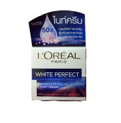 New 2016 L'oreal Paris White Perfect Transparent Rosy Whitening Night Cream with MELANIN-VANlSH Size Net wt . 50ml 50m