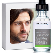 Best Anti Ageing Vitamin C Serum For Men with Hyaluronic Acid & Tripeptide. Maximum Percentage Vitamin-C Topical Vit C Can Make Your Face Look Ten Years Younger! 100.