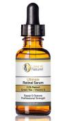 Lisse et Naturel Ultimate Retinol Serum, Maximum Strength 2.5% Retinol, Vitamin E, Green Tea and Jojoba Oil, 100% Natural and 71% Organic, Minimises Fine Lines and Wrinkles, Evens Skin Tone and Unclogs Pores.