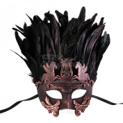 Bronze Hercules with Feathers Greek Venetian Masquerade Mask
