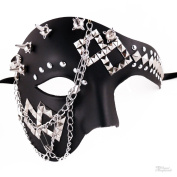 Steampunk Style Phantom Half Face Men Masquerade Mask Prom Party