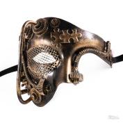 Steampunk Style Phantom Half Face Men Masquerade Mask Prom Party