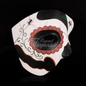 Venetian Masquerade Half Face Phantom Design Day of the Dead Design Men's Mask