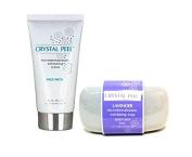 Crystal Peel MicroDermabrasion LAVENDER Soap (240ml) & Microdermabrasion EXFOLIATOR Creme (90ml) - DUO
